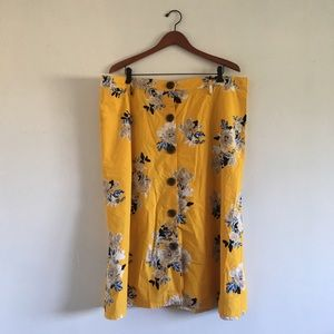 YELLOW MIDI SKIRT 2X